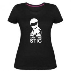 Женская стрейчевая футболка I am the Stig - FatLine