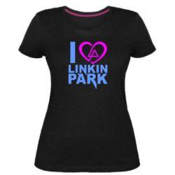 Жіноча стрейчева футболка I love LP