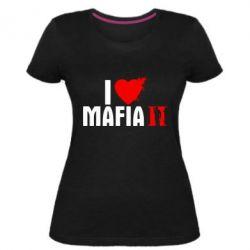 Женская стрейчевая футболка I love Mafia 2