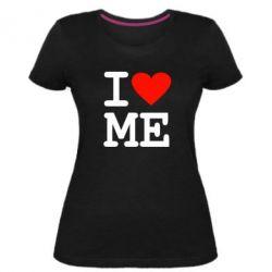 Женская стрейчевая футболка I love ME - FatLine