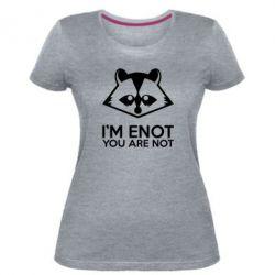 Женская стрейчевая футболка I'm ENOT