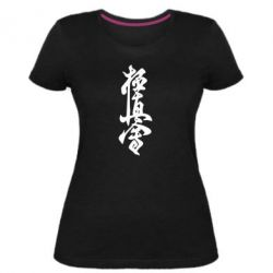 Женская стрейчевая футболка Иероглиф - FatLine