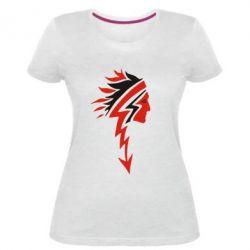 Жіноча стрейчева футболка індіанець
