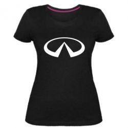Женская стрейчевая футболка Infiniti logo