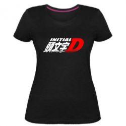 Жіноча стрейчева футболка Initial d fifth stage