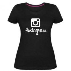 Жіноча стрейчева футболка Instagram