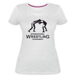 Жіноча стрейчева футболка International Tournament Wrestling