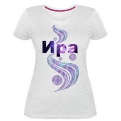 Женская стрейчевая футболка Ира