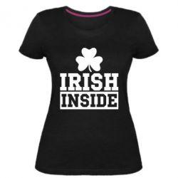 Женская стрейчевая футболка Irish Inside