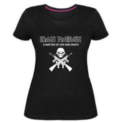 Женская стрейчевая футболка Iron Maiden - FatLine