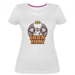 Жіноча стрейчева футболка Iron man and sports
