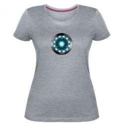 Женская стрейчевая футболка Iron Man Device