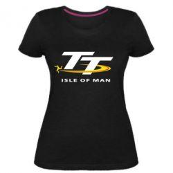 Жіноча стрейчева футболка Isle of man