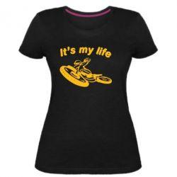 Жіноча стрейчева футболка it's my moto life