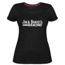 Жіноча стрейчева футболка Jack daniel's Racing