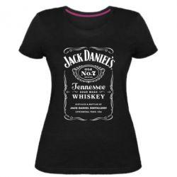 Женская стрейчевая футболка Jack Daniel's