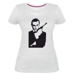 Купить 007, Женская стрейчевая футболка James Bond, FatLine
