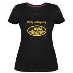 Жіноча стрейчева футболка Java Cesky Motocyclovy