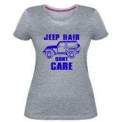 Жіноча стрейчева футболка Jeep hair don't care