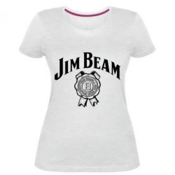 Жіноча стрейчева футболка Jim Beam logo