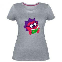 Женская стрейчевая футболка Ёжик