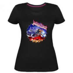 Жіноча стрейчева футболка Judas Priest