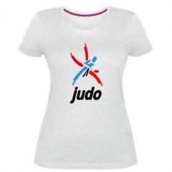 Жіноча стрейчева футболка Judo Logo