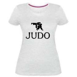 Женская стрейчевая футболка Judo