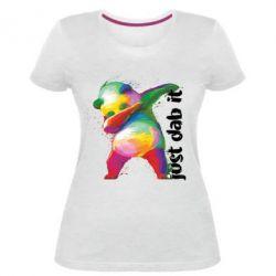 Жіноча стрейчева футболка Just dab it