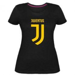 Женская стрейчевая футболка Juventus Logo