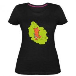 Жіноча стрейчева футболка Гойдайся