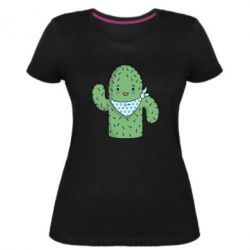 Женская стрейчевая футболка Кактус