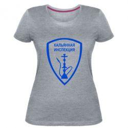 Женская стрейчевая футболка Кальянная инспекция