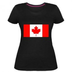 Жіноча стрейчева футболка Канада