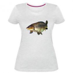 Женская стрейчевая футболка Карасик