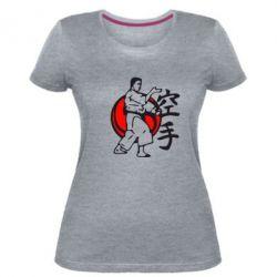 Жіноча стрейчева футболка 4803
