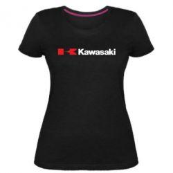 Жіноча стрейчева футболка Kawasaki Logo