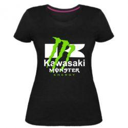 Жіноча стрейчева футболка Kawasaki Monster Energy