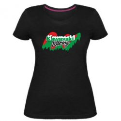 Женская стрейчевая футболка Kawasaki Racing