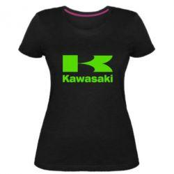 Женская стрейчевая футболка Kawasaki
