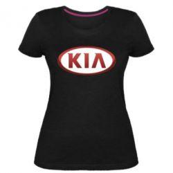 Жіноча стрейчева футболка KIA 3D Logo
