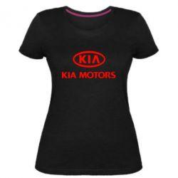 Жіноча стрейчева футболка Kia Logo