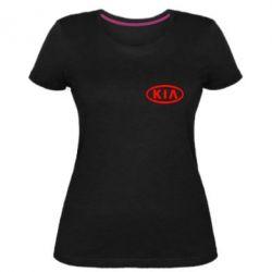 Жіноча стрейчева футболка KIA Small