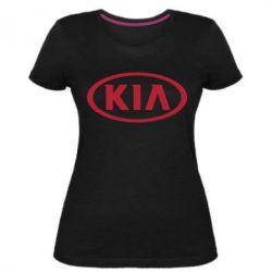 Женская стрейчевая футболка KIA