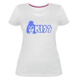 Женская стрейчевая футболка Kiss Album