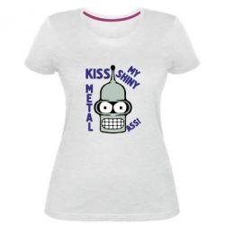 Жіноча стрейчева футболка Kiss metal