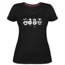 Женская стрейчевая футболка KiSS