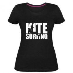 Жіноча стрейчева футболка Kitesurfing