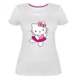 Женская стрейчевая футболка Kitty балярина