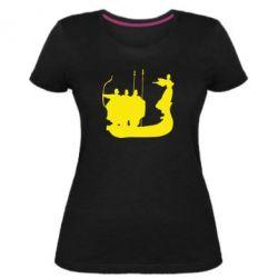 Женская стрейчевая футболка Кий,Щек,Хорив - FatLine